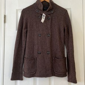 NWT Gap Wool Blend Knitted Button Down Sweater